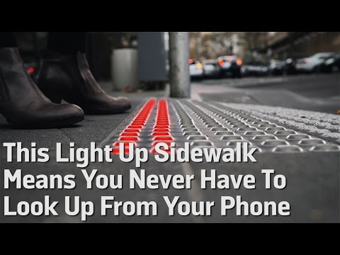 This Light Up Sidewalk Means You Never Have To Look Up From Your Phone