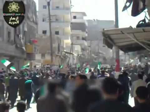 حلب - السكري ||مظاهرة حاشدة لأشاوس الحي 23-3-2012