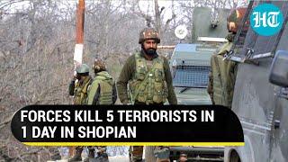 Two terrorists killed in fresh encounter in J&K's Shopian after 3 dead in overnight gunbattle