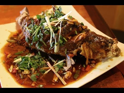 Deep Fried Whole Fish With  Tomato Sauce
