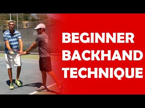 Beginner Backhand Technique   BEGINNER LESSONS