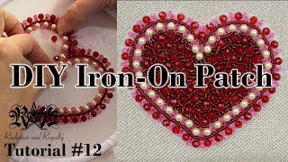 DIY Beaded Iron On Patch Tutorial | Tutorial #12 by Rockstars and Royalty