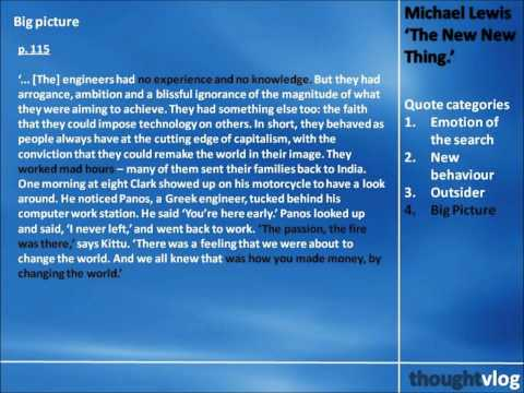 Michael Lewis: The New New Thing Part 3