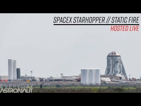 SpaceX StarHopper Static Fire (LIVE 1.5 miles away)
