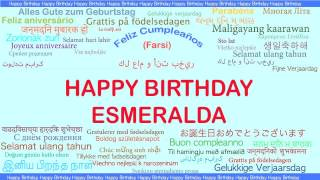 Esmeralda   Languages Idiomas - Happy Birthday