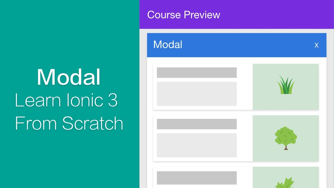 Ionic 3 - Modal Implementation