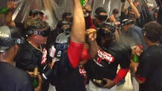 Cleveland Indians celebrate 2017 AL Central Division crown