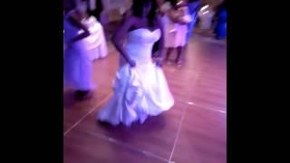Bride and sister dance Bridgewater Manor