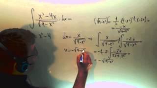 Integral x2-4x/raiz(9-x2) Calculo Ingenieria Telecomunicaciones Academia Usero Estepona