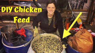 Whole Grain Chicken Feed Mix   How To Make Your Own