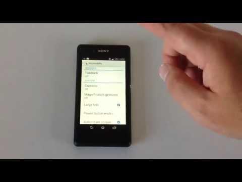Sony Xperia E3 Disabled Settings