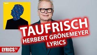 Taufrisch LYRICS | Herbert Grönemeyer | Lyric & Songtext | aus dem Album Tumult