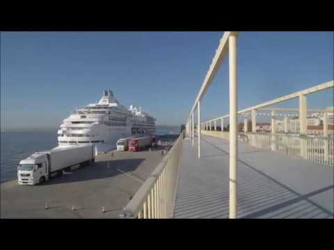 """""""Seven Seas Navigator"""" e """"MS Marina"""" no novo Terminal de Cruzeiros de Lisboa"""