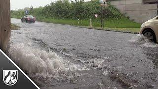 Unwetter in Duisburg setzt Straßen unter Wasser