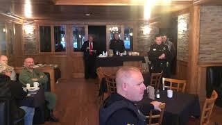 Officer Jesse Abbott at this morning's Veterans Day Breakfast