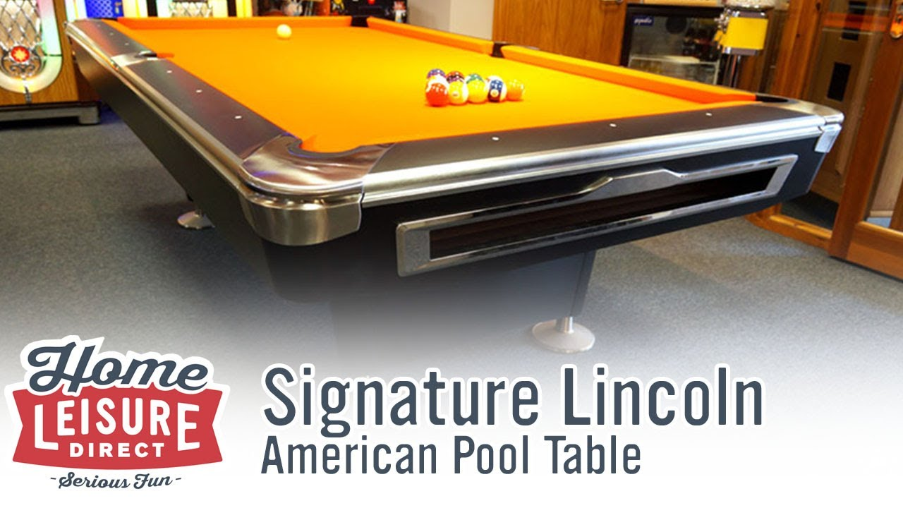 Signature Lincoln American Pool Table