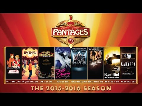 Announcing the New 2015-2016 Season at Hollywood Pantages Theatre