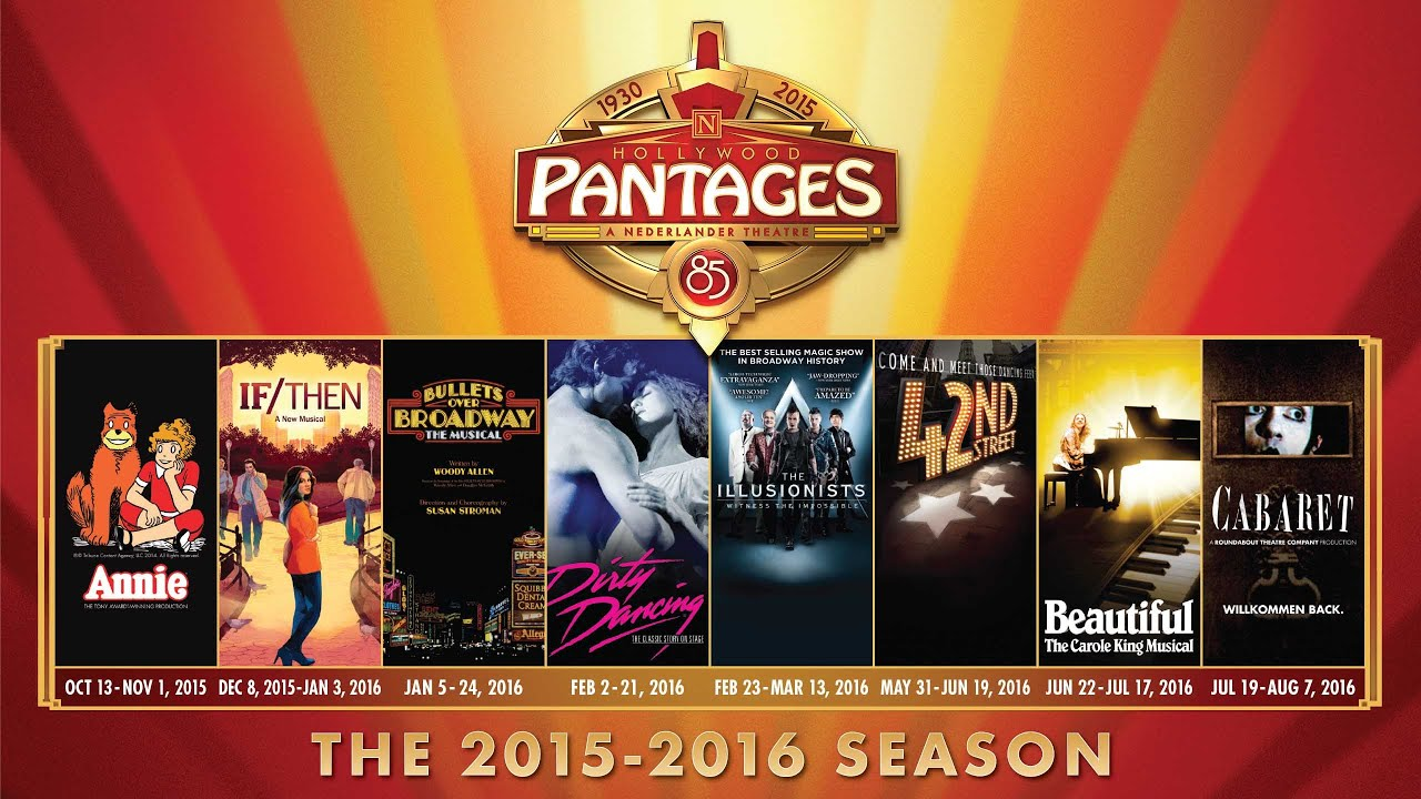 Announcing the New 2015 2016 Season at Hollywood Pantages Theatre