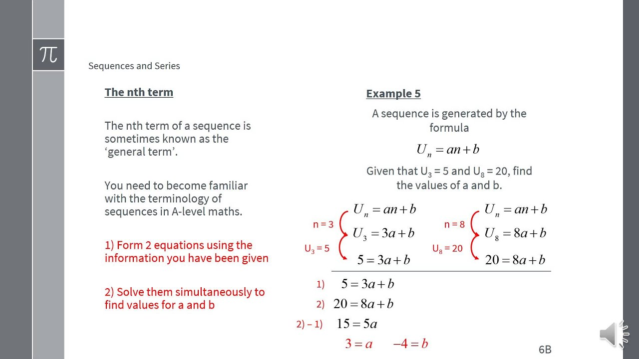understanding the pattern of sequence in terms of the nth term Mathematics (linear) – 1ma0 sequences in terms of n, for the nth term of this sequence pattern number 1 pattern number 2 pattern number 3.