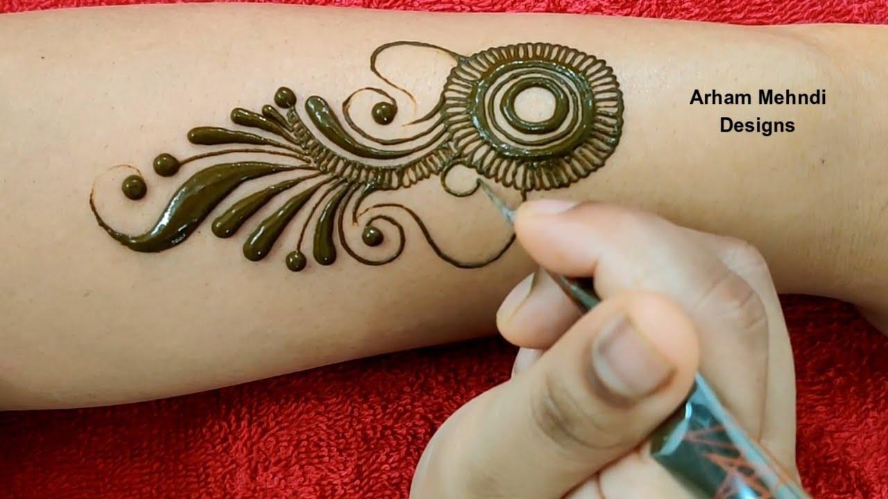 New Stylish Arabic Mehndi Design Easy Simple Mehndi Design For Hand Arham Mehndi Designs Youtube
