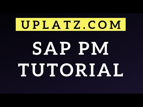 SAP PM Tutorial | SAP Plant Maintenance | SAP PM Training | SAP PM Course | SAP PM | Uplatz