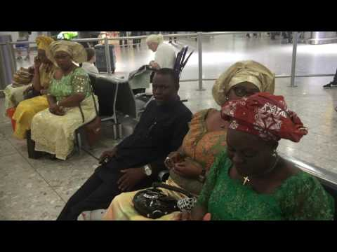 The Olu of Warri - His Majesty Ogiame Ikenwoli at London Heathrow airport 2016 -1
