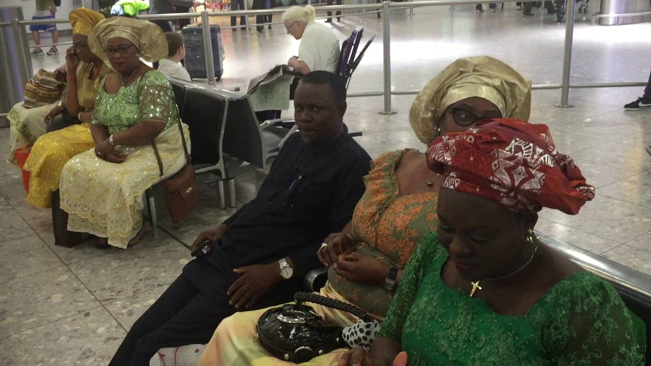 Download The Olu of Warri - His Majesty Ogiame Ikenwoli at London Heathrow airport 2016 -1