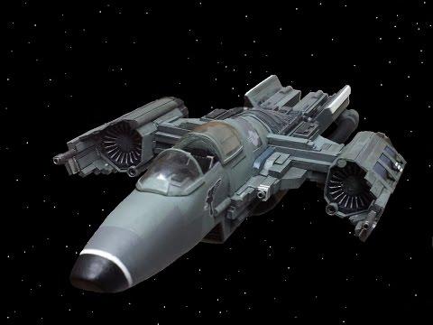 Scratch built Styrene spaceship - build 4
