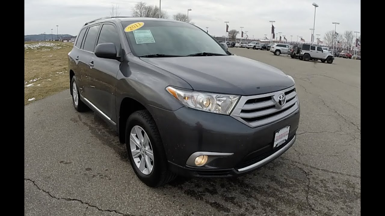 Toyota Highlander Se V Wd Gray Leather Interior P