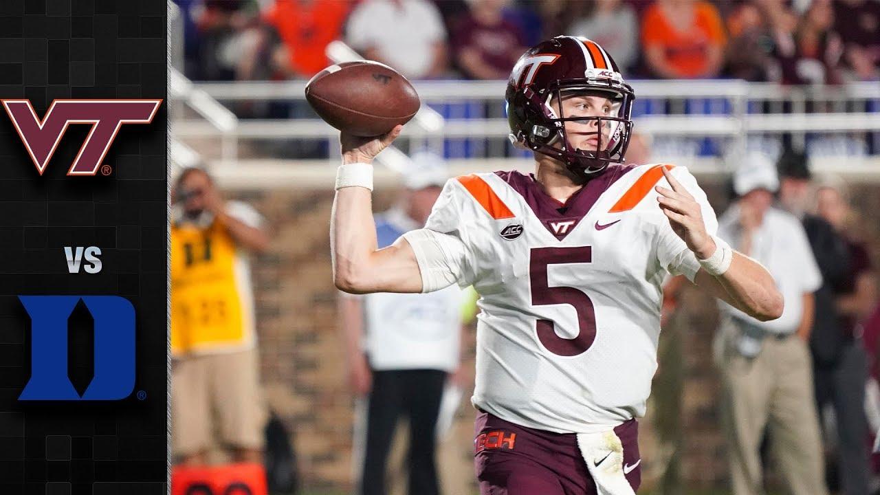 Virginia Tech Vs Duke Football Highlights 2018