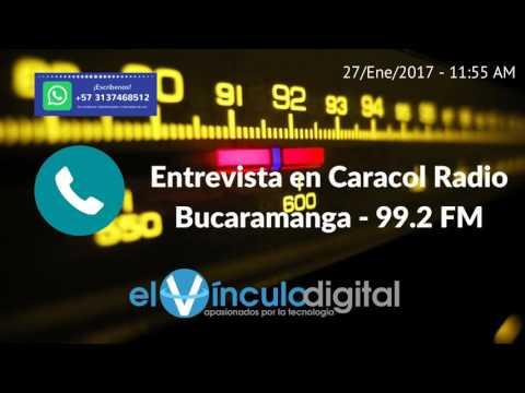 En entrevista con Caracol Radio Bucaramanga - 99.2 FM - 27 de enero del 2017