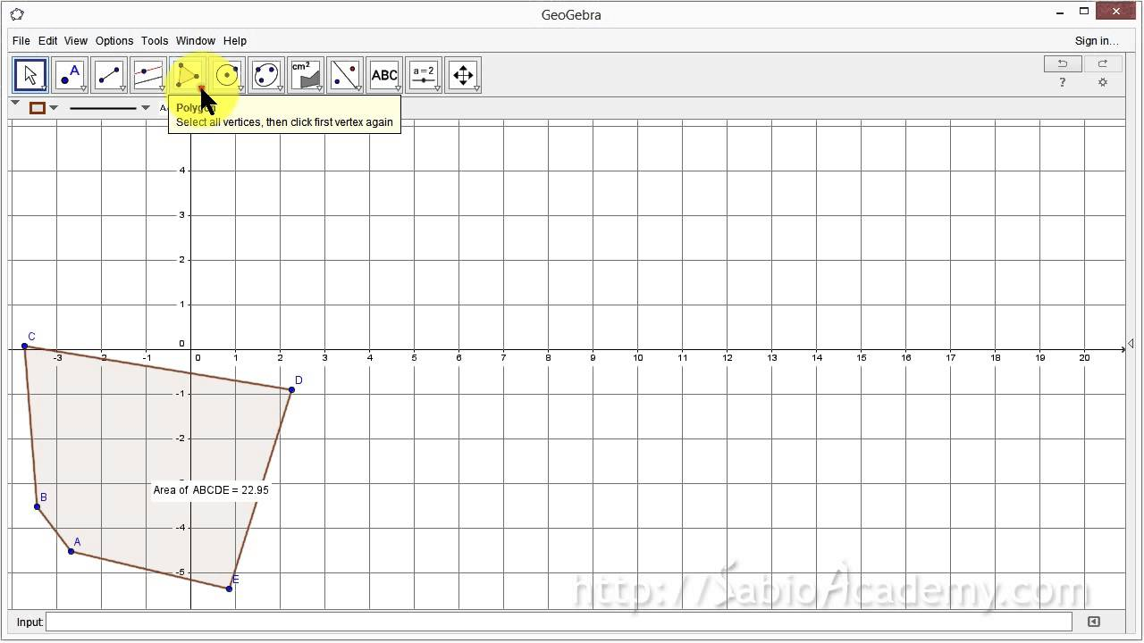 Geogebra Intro 06 Polygons Regular 02m25sAZ