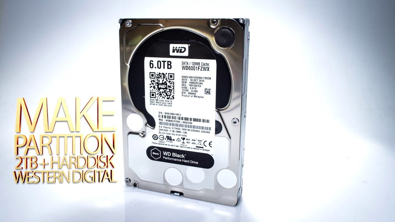 How to Format Hardrive 4TB more like 6TB WD Black without 2TB limitation  Extend Drive Partition