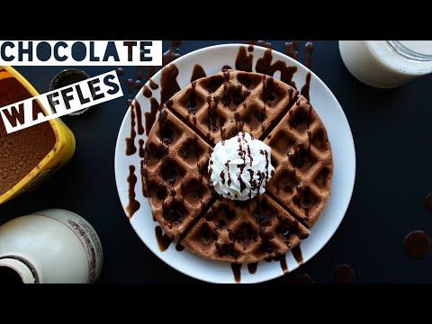How To Make High Protein Chocolate Banana Waffles | Healthy Chocolate Waffle Recipe