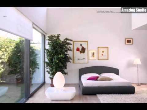 Luxus, Grau, Weiß Schlafzimmer