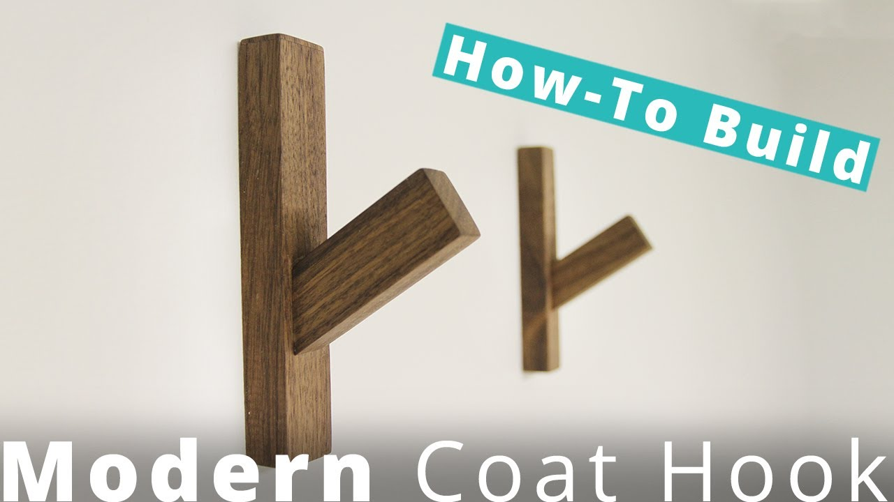 How To Build A Modern Coat Hook DIY Project | Woodworking