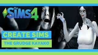 The Sims 4   Create Sims   Ju-On The Grudge Kayako Horror   NOCC