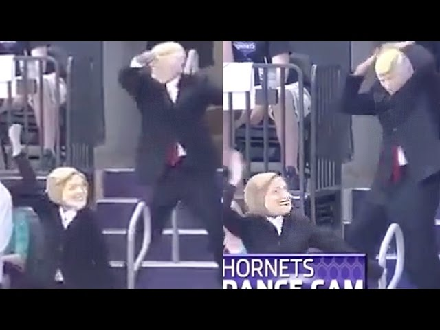 Hillary Clinton Donald Trump Dance To Juju On That Beat At Hornets Game Youtube