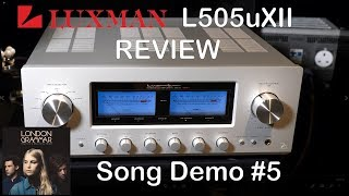 Luxman L505uXII Integrated HiFi Amplifier Review Song Demo #5 + Chord Qutest KEF Reference JPlay