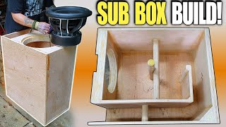 Building a Ported Subwoofer Box for DEEP BASS!!! How To Design & Build LOW TUNED Slot Port Enclosure