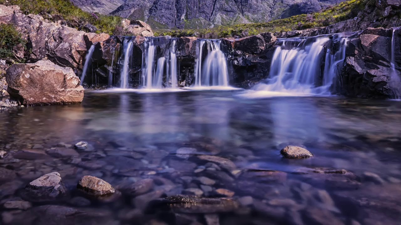 Nature Waterfalls HD Background Loop Animation Free Download