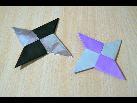 """ศิลปะการพับกระดาษ นินจา Shuriken """"มือที่ซ่อนใบมีด"""""""