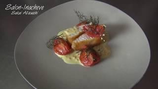 """""""フランス料理"""" 魚料理 鰆のパネ マスタードソース"""