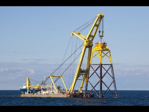 Transport and installation turbine foundations Wikinger offshore wind farm