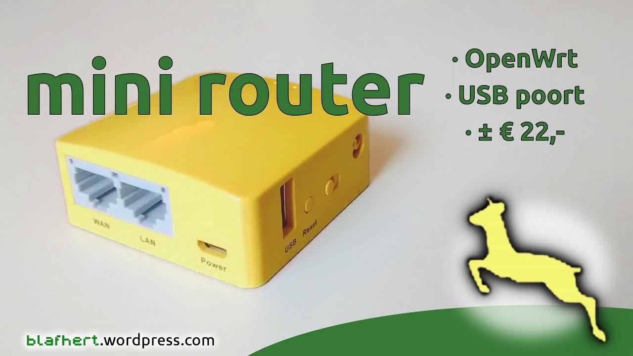 GL-MT300 mini-router met openwrt, USB demonstratie by Blafhert