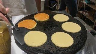 Cheese Pancake in Taiwan (Honey Cheese, Oreo Cheese, Red Bean Cheese)
