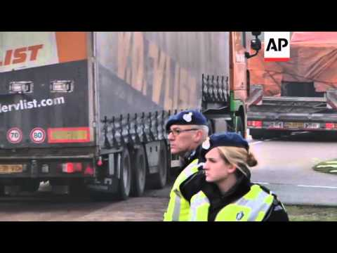 Wreckage of flight MH17 is transported to the Netherlands