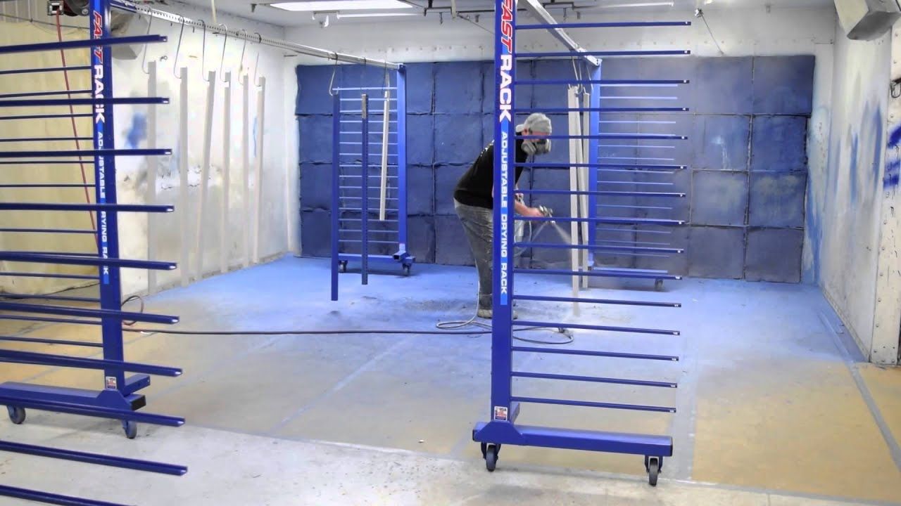 Spraying Parts With Fast Rack Equipment Youtube
