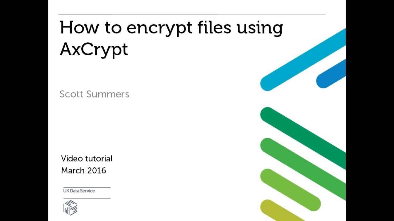 Encrypt files using AxCrypt