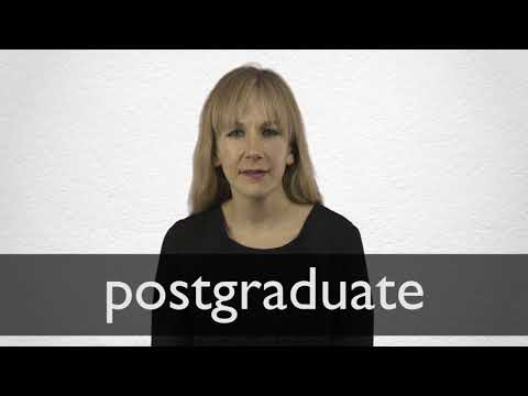 How to pronounce POSTGRADUATE in British English